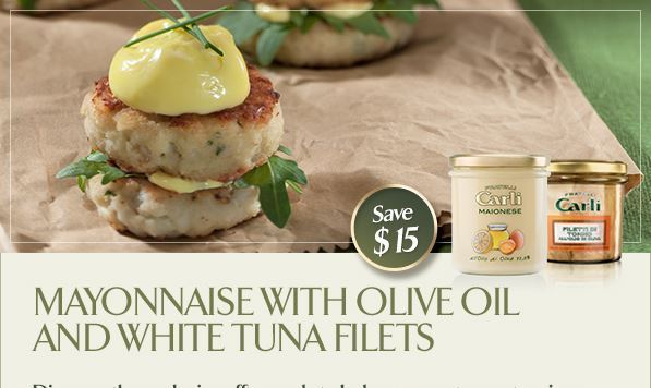 Mayonnaise with Olive Oil and White Tuna Filets