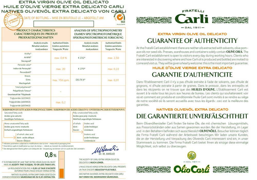 Olive Oils Duo Fratelli Carli